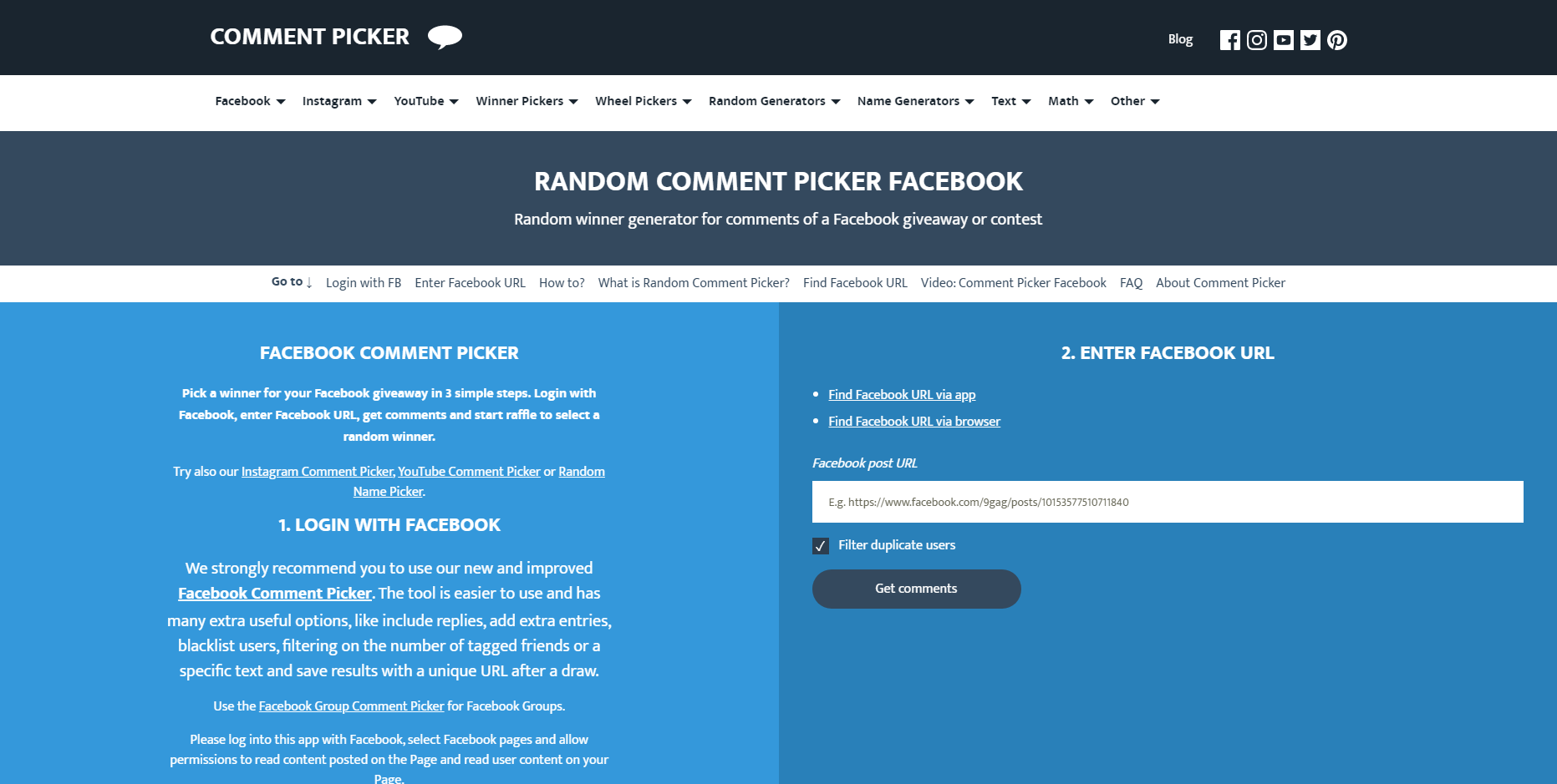 Comment picker